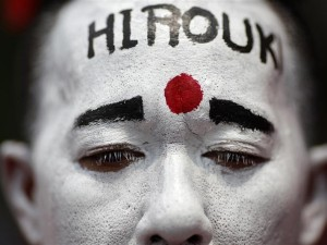A Thai protester on the first anniversary of Hiro's death, April 10, 2011